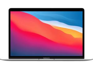 APPLE MacBook Air (M1,2020) MGN93D/A, Notebook mit 13,3 Zoll Display, 8 GB RAM, 256 SSD, M1 GPU, Silber