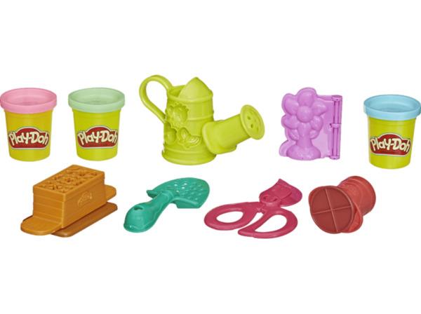 PLAY-DOH Bunter Garten Spielset für Kinder mit 3 Farben Spielset, Mehrfarbig