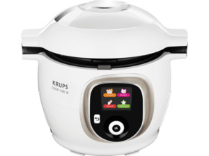 KRUPS CZ7101 Cook4Me+ Multikocher Weiß/Grau (Rührschüsselkapazität: 4 Liter, 1600 Watt)