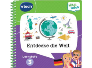 VTECH Lernstufe 3 - Entdecke die Welt Lernbuch, Mehrfarbig