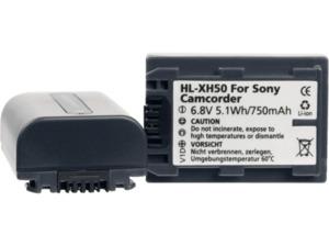 HÄHNEL HL-XH50 Akku Sony, Li-Ion, 3.7 Volt, 750 mAh, Schwarz