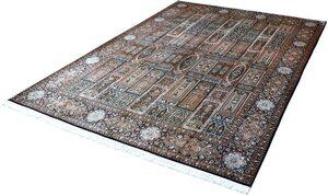 Seidenteppich »L Gum 5291«, Kayoom, rechteckig, Höhe 10 mm, Einzelstück mit Zertifikat, Wohnzimmer