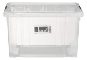 Tarrington House Clear Box, mit Deckel, 60 l, transparent