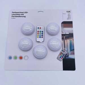 Farbwechsel LED-Leuchten mit Fernbedienung