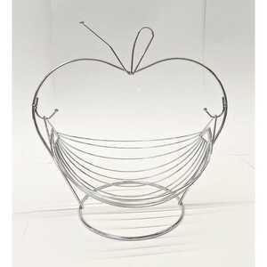 Hängende Obstschale in Apfelform aus Metall, ca. 29,5 x 20 x 29,5 cm