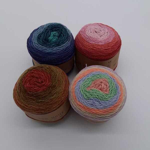 """Strickgarn """"Swirl Glitter"""", ca. 780m, verschiedene Farben"""