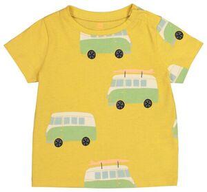 HEMA Baby-T-Shirt Gelb