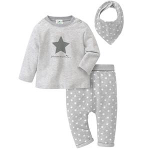 Newborn Langarmshirt, Hose und Bandana im Set