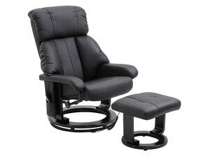 HOMCOM TV Sessel und Hocker mit Massage- und Heizfunktion