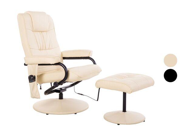 HOMCOM Massagesessel mit Wärmefunktion und Hocker