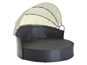 Outsunny Rattan-Sonneninsel, inklusive faltbarem Dach