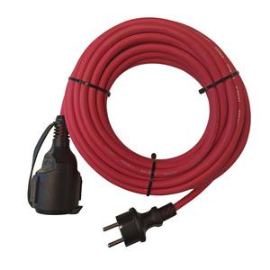 Powertec Electric Gummiverlängerungen, ca. 10 m - Rot