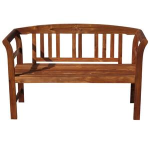 Gartenbank 2-Sitzer 123 x 45 x 83 cm Holz Akazie
