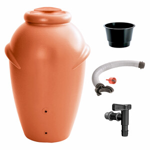 Regentonnen Set Baby Aquacan 210 Liter in terracotta