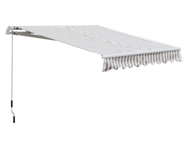 Outsunny Markise ca. 300 x 148 x 250 cm beige/weiß