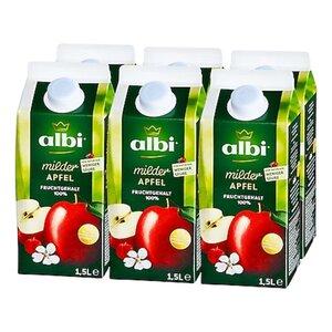 albi milder Apfelsaft 1,5 Liter, 6er Pack
