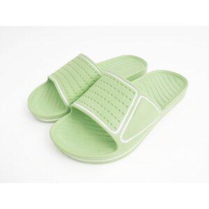 Badepantoletten - versch. Farben & Größen - hellgrün/weiß - Gr. 37