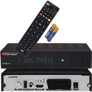 Opticum RED Opticum HD AX 300 VFD PVR ready Digital Receiver  HDMI,Scart,USB,Coaxial Audio,12V Netzteil
