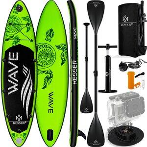 KESSER Aqua Aufblasbares SUP Board Set 6 Zoll Dick Komplettes Zubehör Surfboard, Grün
