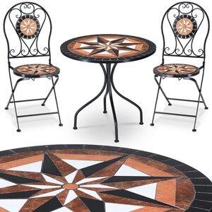 Deuba Mosaik Gartensitzgarnitur Pamplona 3tlg. Set, Mehrfarbig