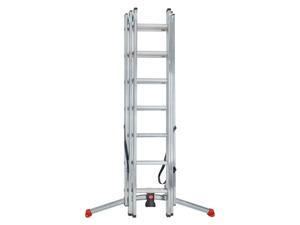 Hailo 3in1 Aluminium Kombileiter mit Lot System, 3 x 7 Sprossen