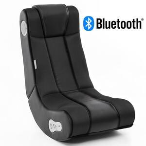 WOHNLING® Soundchair InGamer in Schwarz mit Bluetooth   Musiksessel mit eingebauten Lautsprechern   Multimediasessel für Gamer   2.1 Soundsystem - Subwoofer   Music Gaming Sessel Rocker Chair