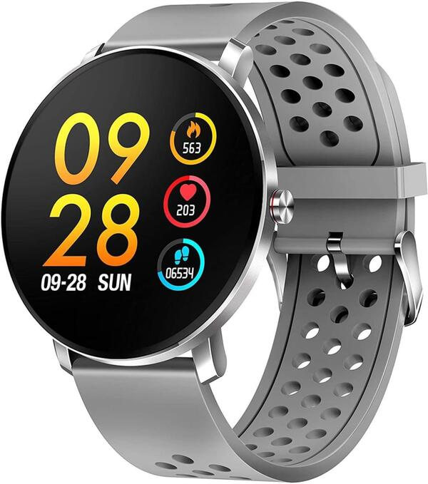Denver Smartwatch SW-171, Bluetooth, Touchscreen, Farbe: Grau