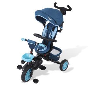 Daliya® Dreirad Kinderdreirad Kinder Lenkstange Fahrrad Baby Kinderwagen Buggy - Bla