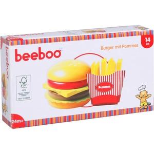 Beeboo Kitchen Beeboo Kitchen Burger mit Pommes, 14 Teile