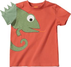 PUSBLU Kinder Shirt, Gr. 92, in Baumwolle, orange, grün