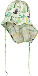 PUSBLU Kinder Schildmütze, Gr. 46/47, in Baumwolle, grün, weiß