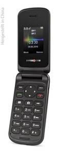 Klapphandy SC 330 schwarz mit Dual Sim, Farbdisplay, Bluetooth, Freisprechfunktion