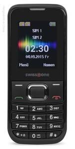 Mobiltelefon SC 230 schwarz mit Dual Sim, Bluetooth, Taschenlampe, Farbdisplay, Freisprechfunktion
