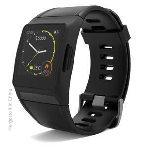 Smart-Watch SW 700 Pro Black mit integriertem GPS und Herzfreuqenzmessung