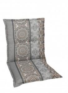 Go-De Sessel-Auflage nieder, grau beige gemustert, 100 x 50 x 7 cm