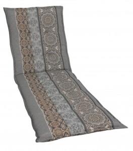 Go-De Rollliegen-Auflage grau beige gemustert, 190 x 60 x 7 cm