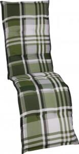 GO-DE Relax-Auflage 50 cm x 170 cm x 7 cm, Karo grün/anthra/beige
