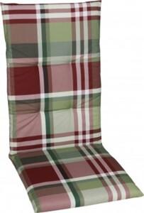 GO-DE Sesselauflage hoch 48 cm x 118 cm x 5 cm, rot, karo rot