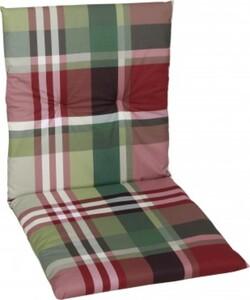 GO-DE Sesselauflage nieder 48 cm x 98 cm x 5 cm, rot, karo rot