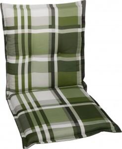GO-DE Niederlehner-Auflage 50 cm x 100 cm x 7 cm, Karo grün/anthra/beige