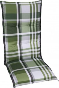 GO-DE Mittellehner-Auflage 50 cm x 110 cm x 7 cm, Karo grün/anthra/beige