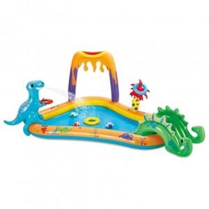 Summer Waves Aufblasbarer Dinosaurier-Pool und Spielcenter