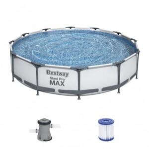 Bestway Steel Pro Max Frame Pool-Set Ø 366 x 76 cm, inkl. Filterpumpe