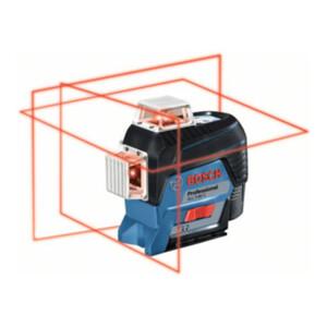 Bosch Linienlaser GLL 3-80 C mit 4 x 1,5-V-LR6-(AA)-Batterien Akku-Adapter