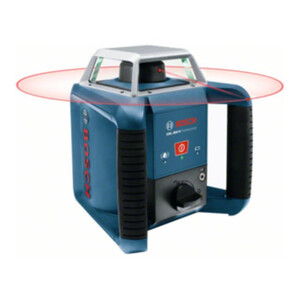 Bosch Rotationslaser GRL 400 H mit Laserempfänger LR 1 und Transportkoffer