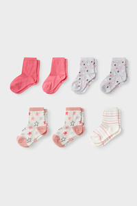 C&A Socken-7 Paar, Rosa, Größe: 37-39