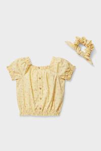 C&A Set-Bluse und Haargummi-2 teilig, Gelb, Größe: 110