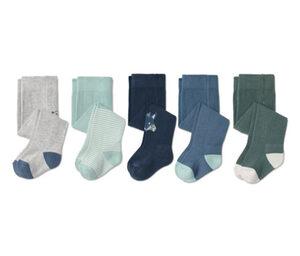 5 Baumwoll-Strumpfhosen, blau