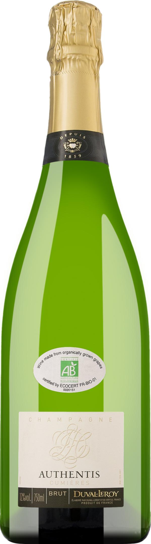 Champagne Duval-Leroy Authentis Cumières Brut   - Schaumwein, Frankreich, brut, 0,75l