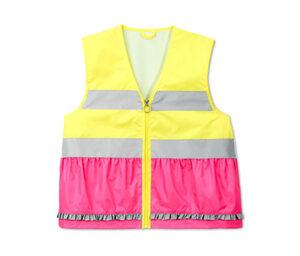 Kinder-Weste, gelb-pink